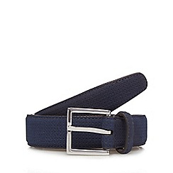 Red Herring - Navy perforated suede belt