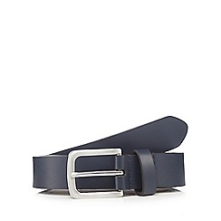 Red Herring - Big and tall navy leather skinny belt