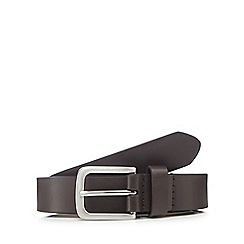 Red Herring - Brown leather skinny belt