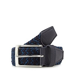 Maine New England - Navy stretch weave belt