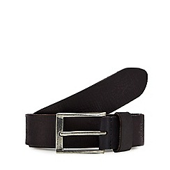 RJR.John Rocha - Big and tall black leather belt