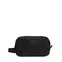 Mi-Pac - Black tumbled leatherette washbag