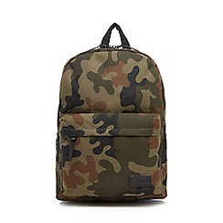 Red Herring - Khaki camouflage print backpack