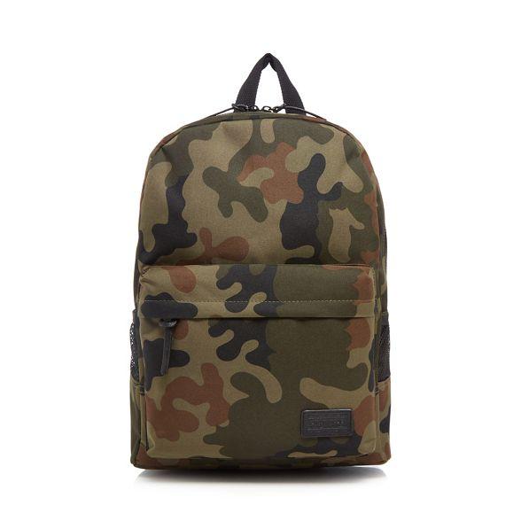 Herring Khaki print camouflage Red backpack 6gpaqcw