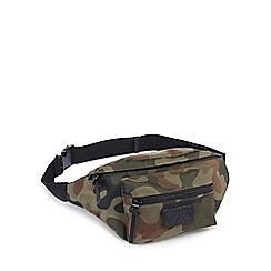 Red Herring - Khaki camouflage print bumbag