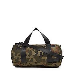 Red Herring - Khaki camouflage gym bag
