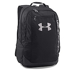 Under Armour - Black 'Heatgear®' hustle leather backpack