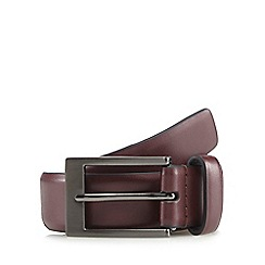 The Collection - Wine red leather belt