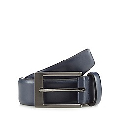 The Collection - Big and tall navy leather belt
