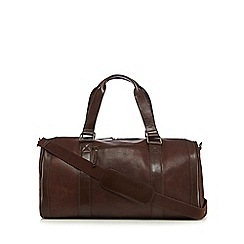RJR.John Rocha - Designer brown pebbled leather holdall