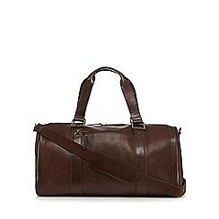 RJR.John Rocha - Designer brown pebbled leather holdall