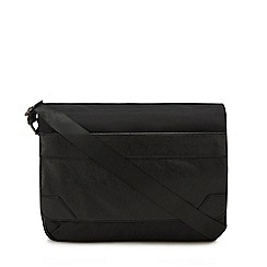 The Collection - Black textured despatch bag
