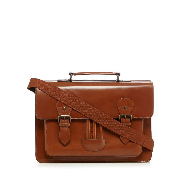 RJR Designer bag tan satchel leather John Rocha rUwqRr
