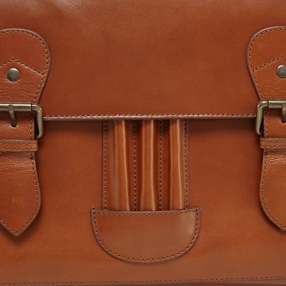bag John satchel leather Designer RJR Rocha tan xZqF4dTw