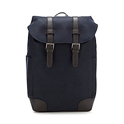 J by Jasper Conran - Navy textured backpack