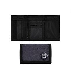 Animal - Grey logo textured wallet