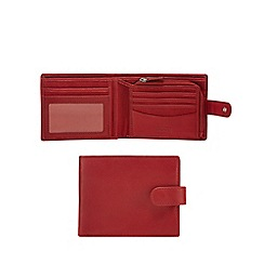 Mantaray - Red leather and canvas mix billfold wallet