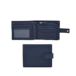 Mantaray - Blue leather and canvas mix billfold wallet