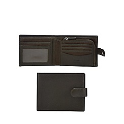 Mantaray - Khaki leather and canvas mix billfold wallet