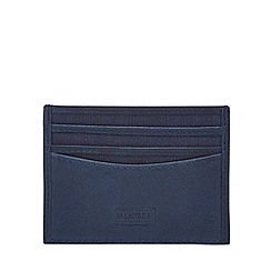 Mantaray - Blue leather and canvas card holder