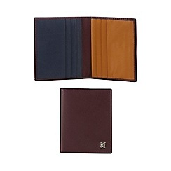 Hammond & Co. by Patrick Grant - Wine red leather card holder