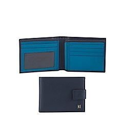 Hammond & Co. by Patrick Grant - Navy leather billfold wallet