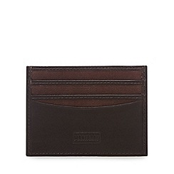 Mantaray - Brown leather and canvas card holder