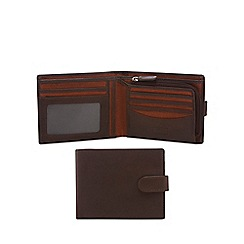 Mantaray - Brown leather billfold wallet