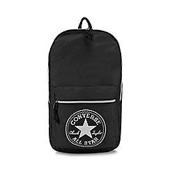 Converse - Black packable backpack