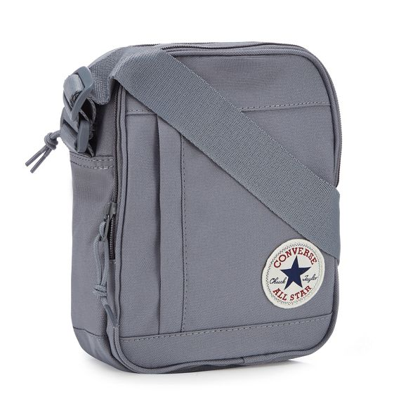 Grey Converse body cross applique logo bag SYqaY