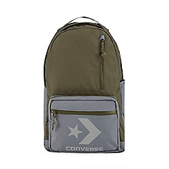 Converse - Khaki multiple pocket logo applique backpack