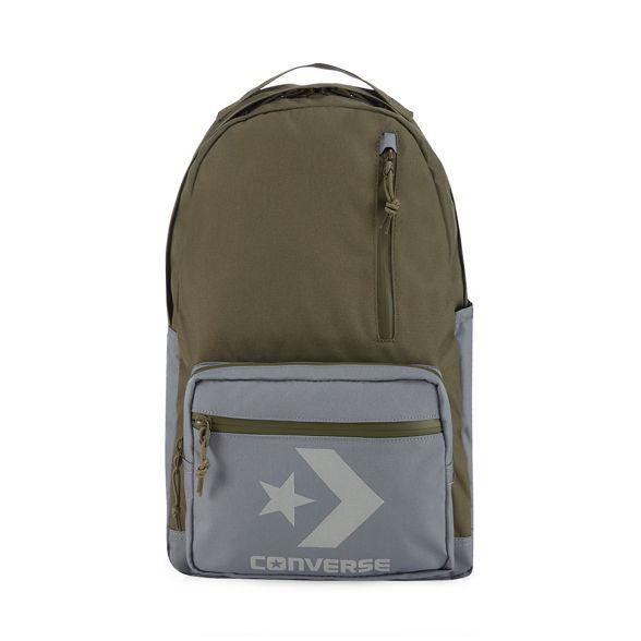Khaki Converse pocket applique logo backpack multiple dBpUnwrB7