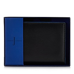 J by Jasper Conran - Black leather credit card holder