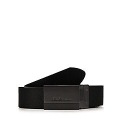 Ben Sherman - Black leather reversible belt