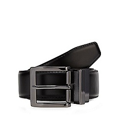 The Collection - Black leather reversible belt