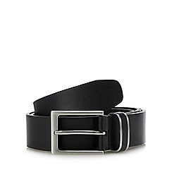 The Collection - Big and tall Black leather belt