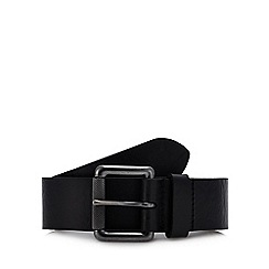Mantaray - Big and tall black leather belt