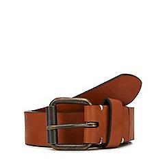 Red Herring - Tan leather roller belt