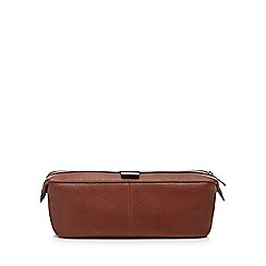 Hammond & Co. by Patrick Grant - Tan tumbled leather wash bag