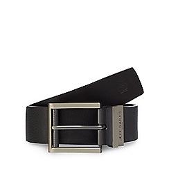 Jeff Banks - Big and tall designer black reversible belt