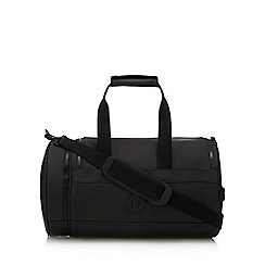 Red Herring - Black matte large holdall bag
