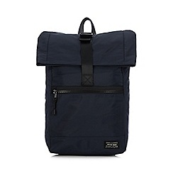 Red Herring - Navy top flap backpack