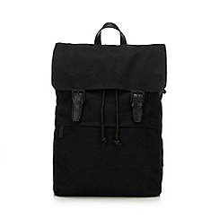 J by Jasper Conran - Black canvas backpack