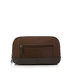 RJR.John Rocha - Designer brown canvas wash bag