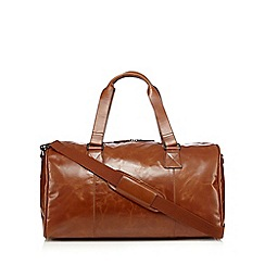 RJR.John Rocha - Designer tan leather holdall bag