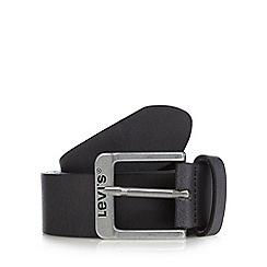 Levi's - Black leather keeper belt