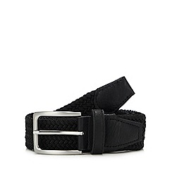 Maine New England - Black Woven Elasticated Belt