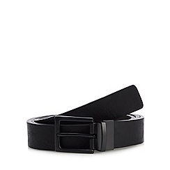 Red Herring - Black Leather Reversible Belt