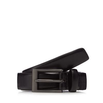 The Collection   Black Classic Leather Belt by The Collection