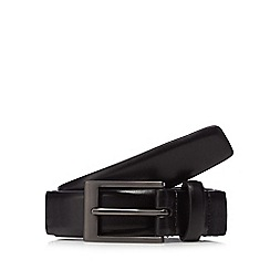 The Collection - Big and tall black classic leather belt